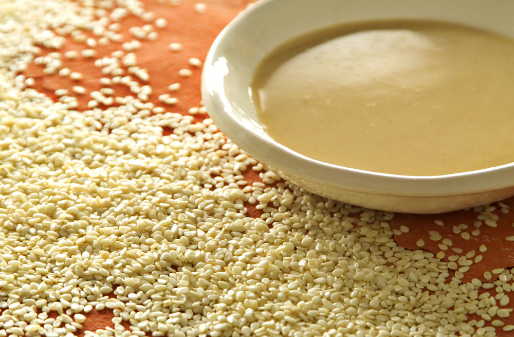 Tahini, Silan (Date Honey),  and Sesame Sauce